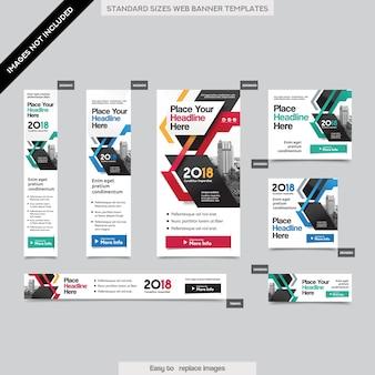 City background corporate web bannière modèle en plusieurs tailles. facile à adapter à la brochure, au rapport annuel, au magazine, à l'affiche, à la publicité d'entreprise, au flyer, au site web.