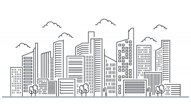 City line illustration design