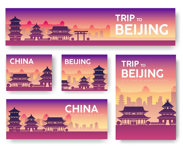Cityscape of beijing attractions touristiques