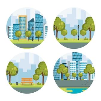 Cityscapes urbaines mis en scènes