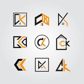 Ck immobilier logo bundle