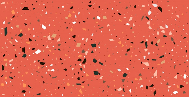 Claasic red terrazzo floor pattern texture background