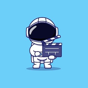 Clap de transport astronaute mignon