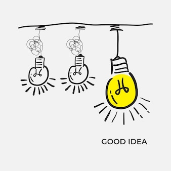 Clarté De Confusion Ou Concept D'idée De Vecteur De Chemin. Simplifier Le Complexe Avec Le Style Doodle Vecteur Premium
