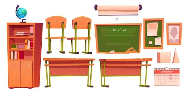 Classe de dessin animé de 2021 illustration