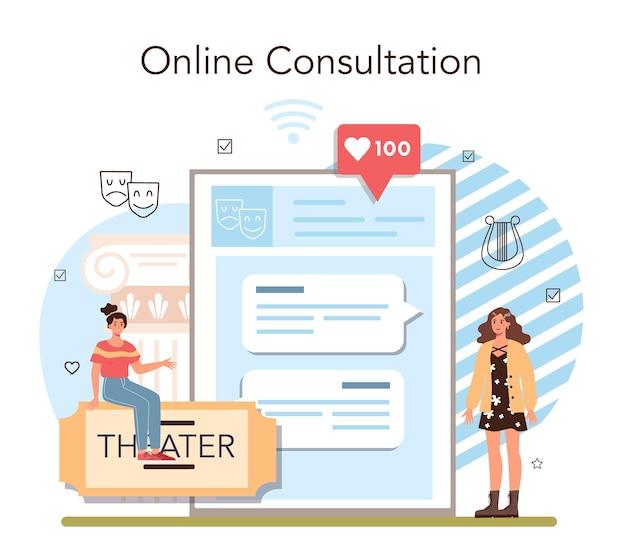 Classe d'école d'art dramatique ou service en ligne de club ou étudiants de plate-forme jouant