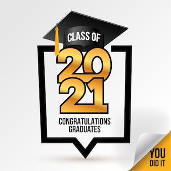 Classe de logo. félicitations à l'obtention du diplôme.