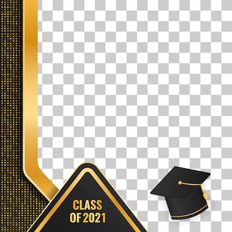 Classe de luxe en or de conception de remise des diplômes 2021