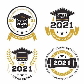 Classe plate de la collection de badges 2021