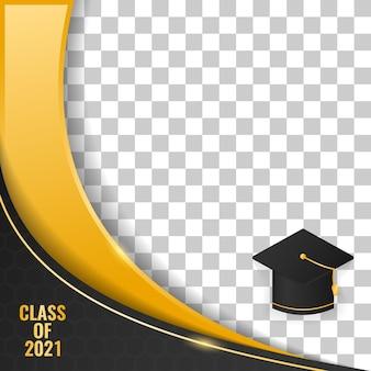 Classe de remise des diplômes de cadre de luxe abstrait de 2021