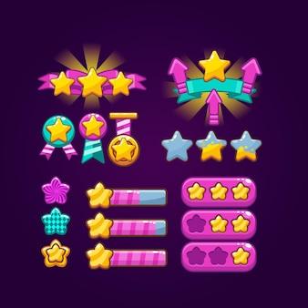 Classement des éléments du jeu