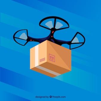 Classic drone de livraison avec design plat