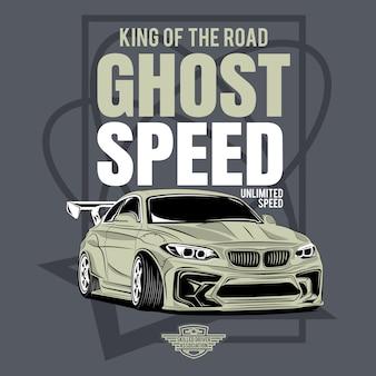 Classiques incroyables, festival de voitures personnalisées, affiche d'une voiture de sport classique