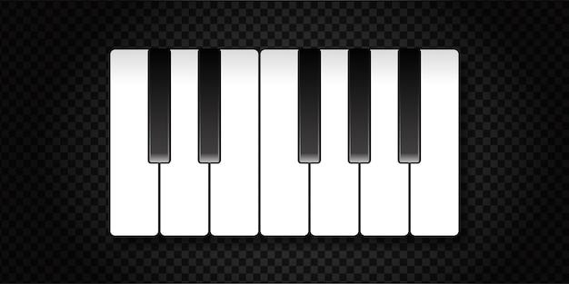 Clavier de piano isolé réaliste.
