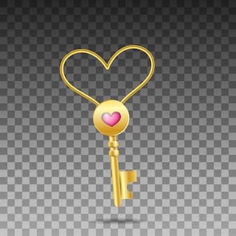 Clé en forme de coeur