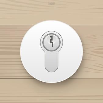 La clef maitresse. clé pour serrure de porte