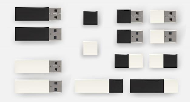 Clés usb, disques flash. lecteurs flash usb