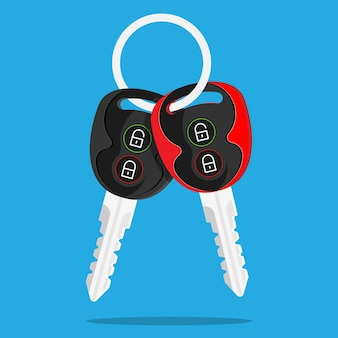 Clés de voiture serrure déverrouiller alarme portes clé rouge pleine puissance