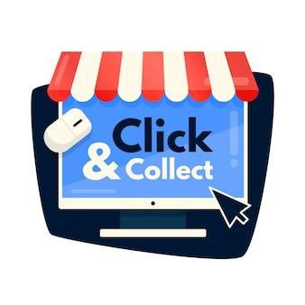 Clic créatif et signe de collecte