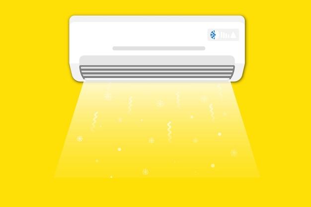 Climatisation. climatiseur avec air frais. concept de climatisation, refroidissement de la maison, confort de vie
