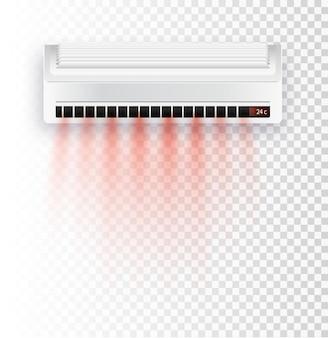 Climatiseur isolé illustration vectorielle courants d'air vecteur