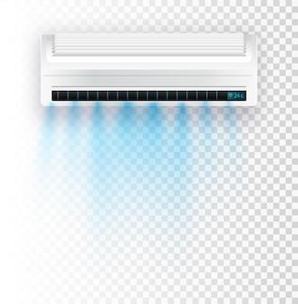Climatiseur isolé illustration vectorielle eps vecteur courants d'air