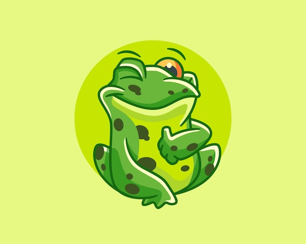 Un clin de œil personnage de dessin animé de petite grenouille