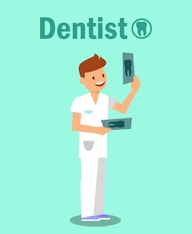 Clinique dentaire, concept de bannière de stomatologie