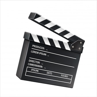 Clins de film réaliste, signe de tournage de film