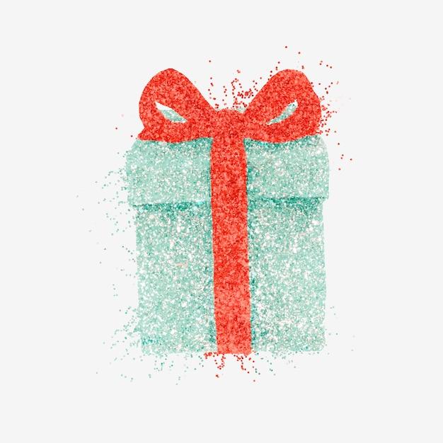 Clipart boîte cadeau étincelle dessiné à la main