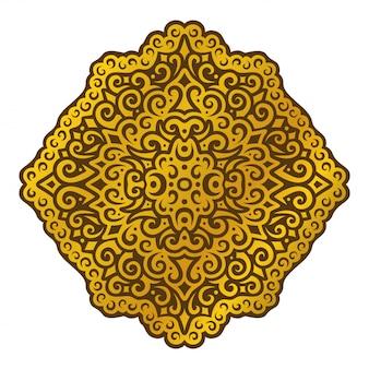 Clipart coloré avec dessin abstrait islamique doré