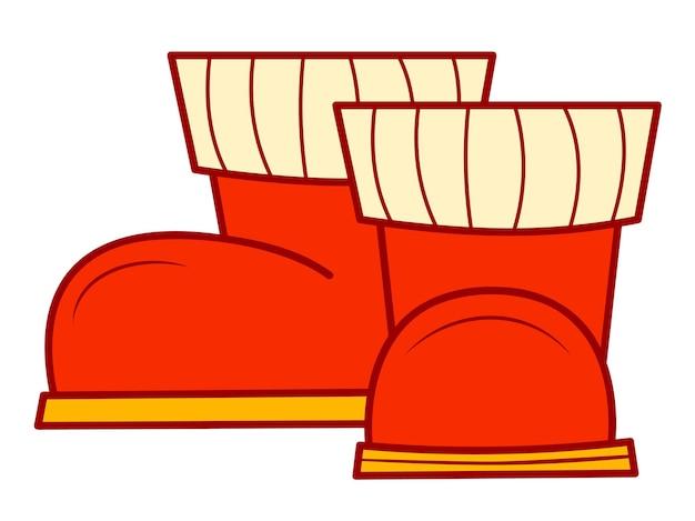 Clipart de dessins animés de noël. illustration vectorielle de bottes clipart.