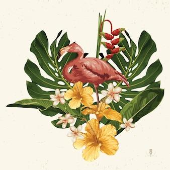 Clipart de l'été tropical. emblème de l'été utile pour la conception de fond.