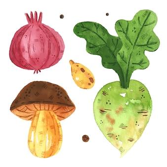 Clipart de légumes, ensemble.