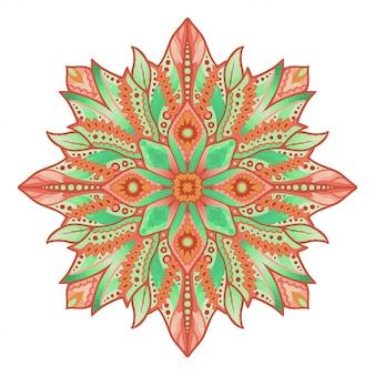Clipart avec motif abstrait lumineux isolé