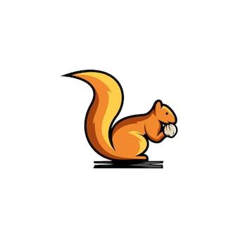 Clipart vectoriel écureuil, icône, graphisme et illustration