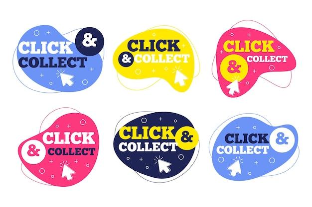 Cliquez et collectez ensemble de boutons