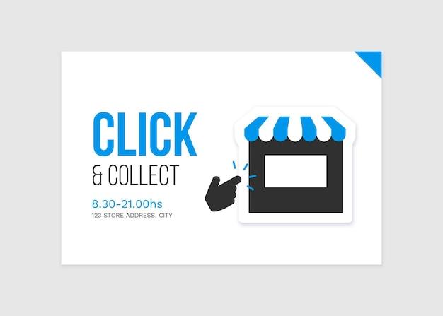 Cliquez Et Collectez Signe Détaillé Vecteur gratuit