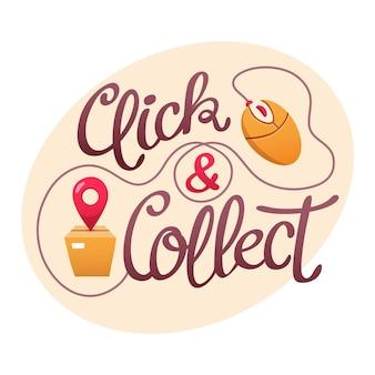 Cliquez et collectez signe détaillé