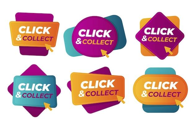Cliquez Et Collectez Des Signes Détaillés Vecteur gratuit