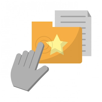 Cliquez sur le curseur avec le dossier et le document
