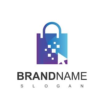 Cliquez sur le modèle de conception de logo de boutique en ligne