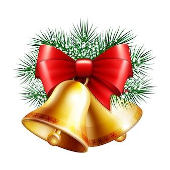 Cloches dorées de noël
