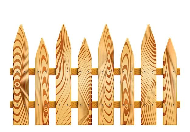 Clôture en bois isolée