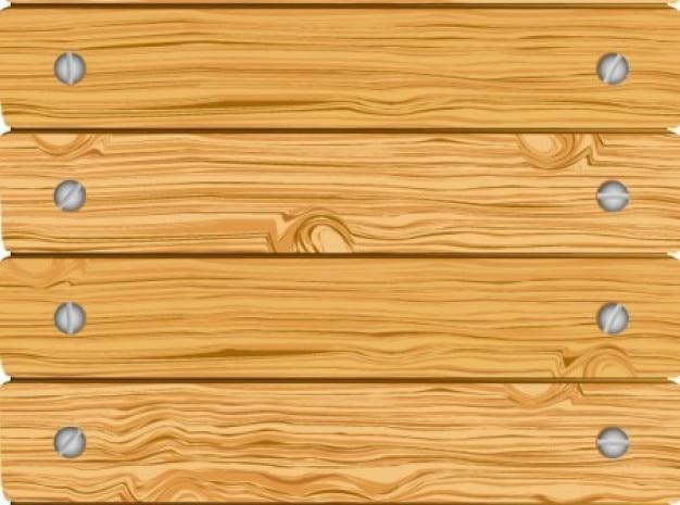 Clôture en bois avec des planches horizontales vissées