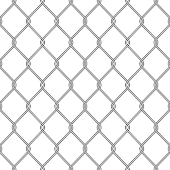 Clôture de maillon de chaîne en métal réaliste