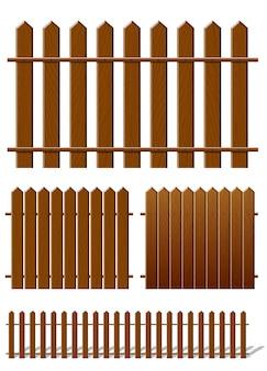 Clôture marron avec texture en bois