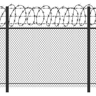 Clôture en métal de la prison
