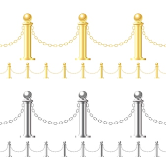 Clôture en or sans soudure et clôture en acier sur blanc