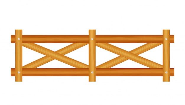 Clôture de piquet, bois texturé, bords arrondis.